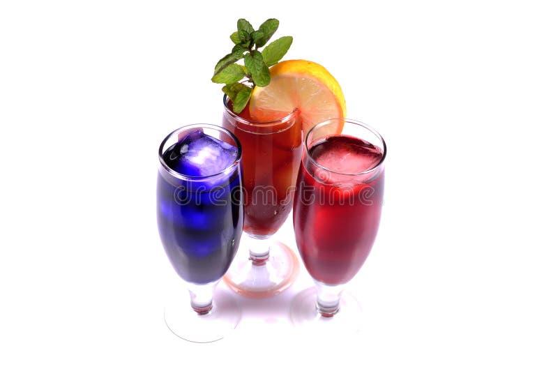 Glaces de cocktail photographie stock libre de droits