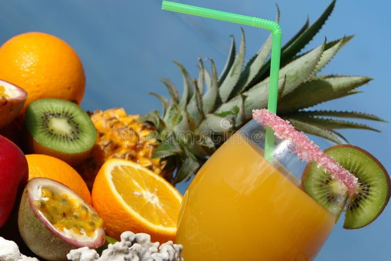 Glaces de jus de fruit image stock