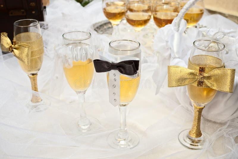 Glaces de mariée et de marié photo stock