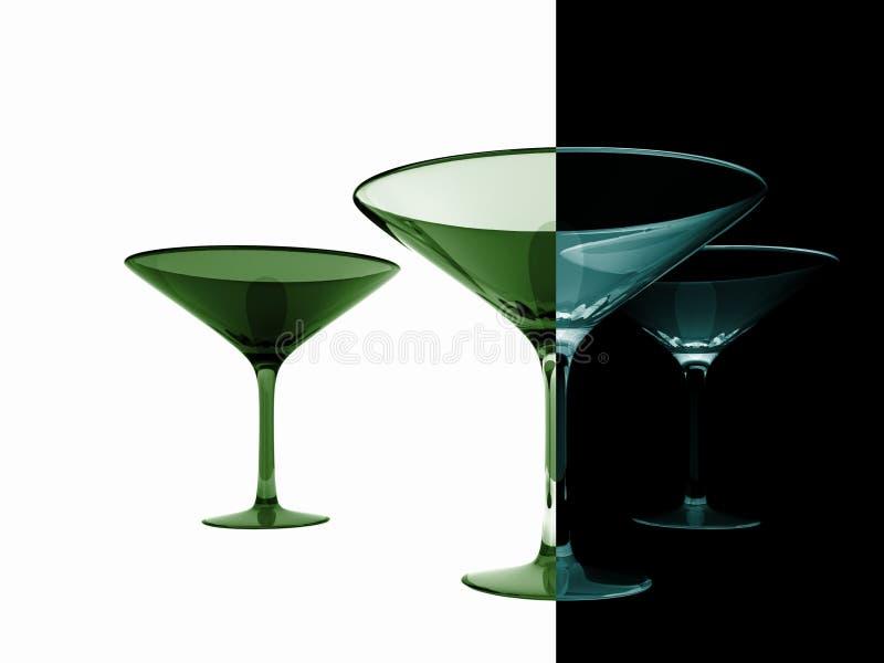 Glaces de Martini illustration stock