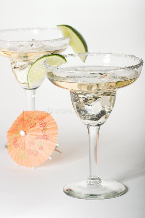 Glaces de Martini avec des cocktails photographie stock