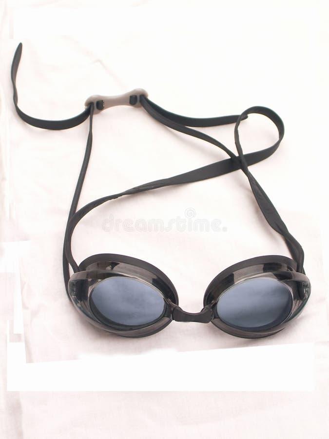 Glaces de natation photographie stock