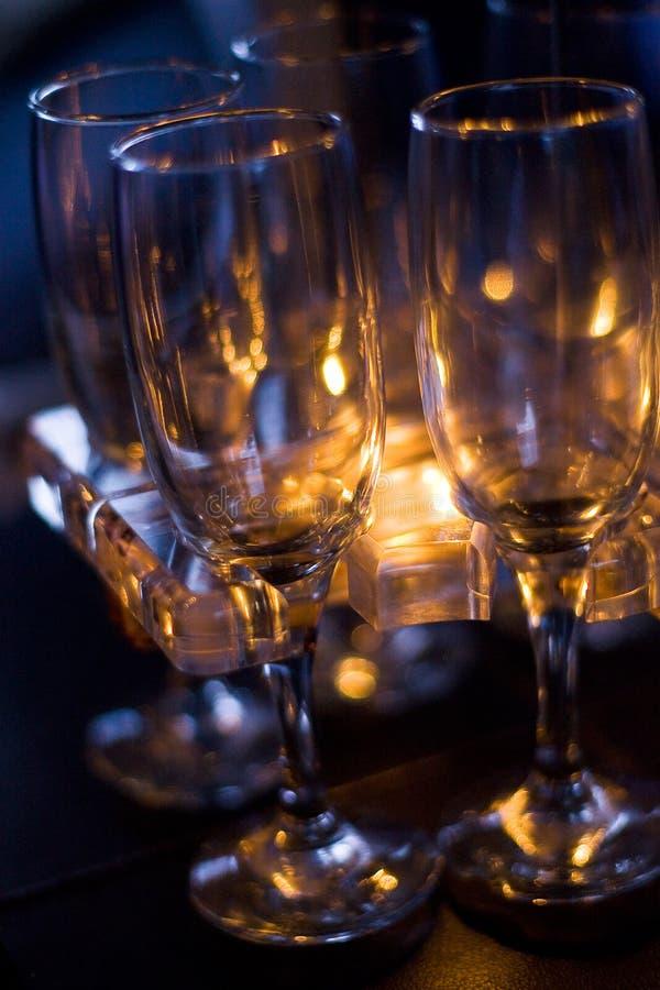 Glaces de vin à long terme photos stock
