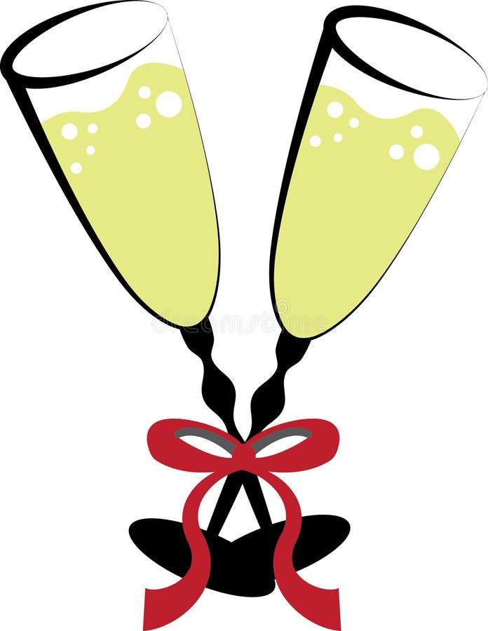 Glaces de vin illustration de vecteur