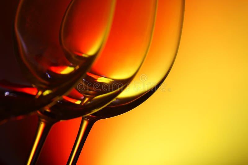 Glaces de vin photographie stock