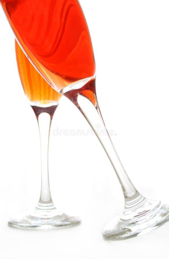 Glaces de vin d'isolement photos stock