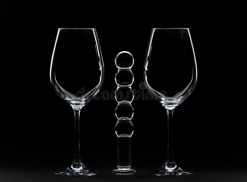 Glaces de vin et Dildo photographie stock