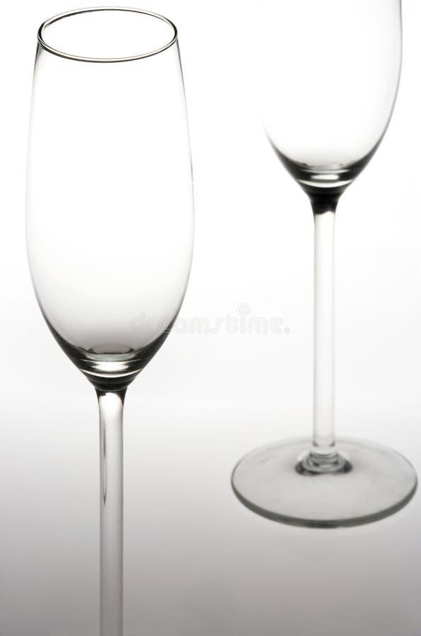 Glaces de vin mousseux - Sektglaeser photo libre de droits