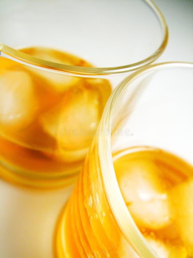 Glaces de whiskey photo libre de droits