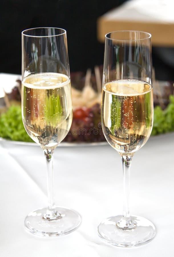Glaces di Champagne fotografia stock libera da diritti