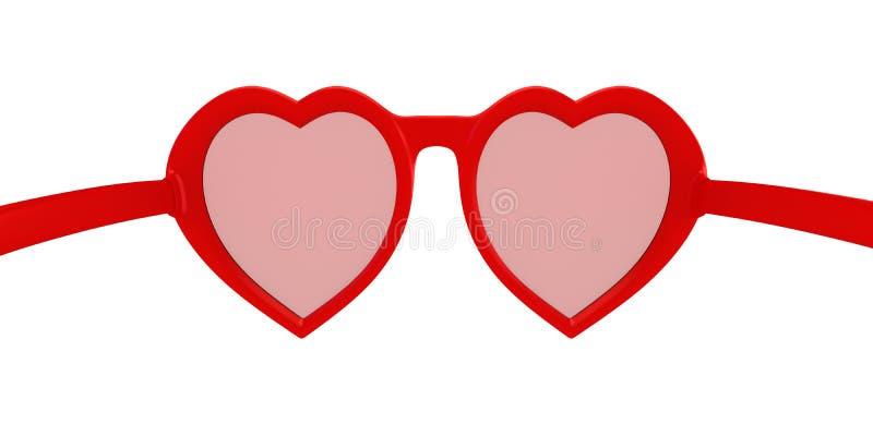 Glaces en forme de coeur illustration libre de droits