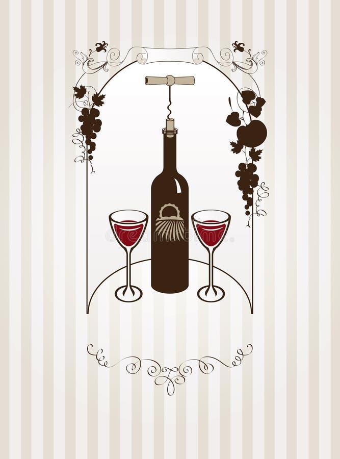 Glaces et vigne illustration libre de droits