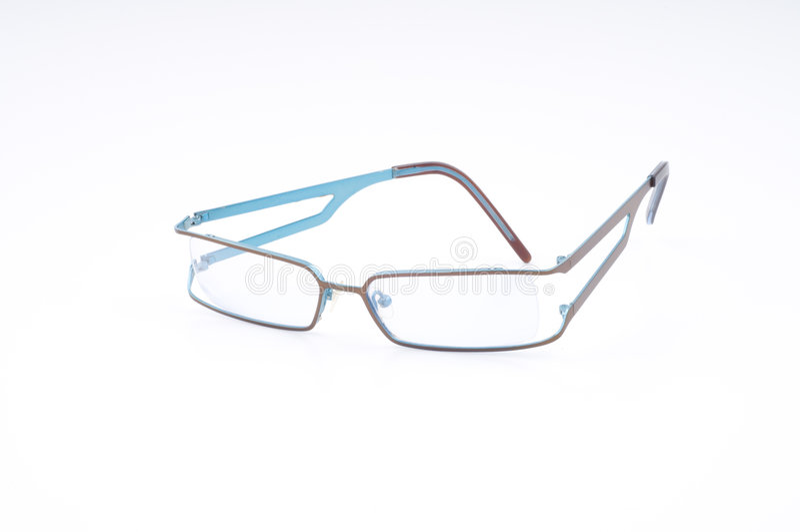 Glaces modernes de œil bleu photo stock