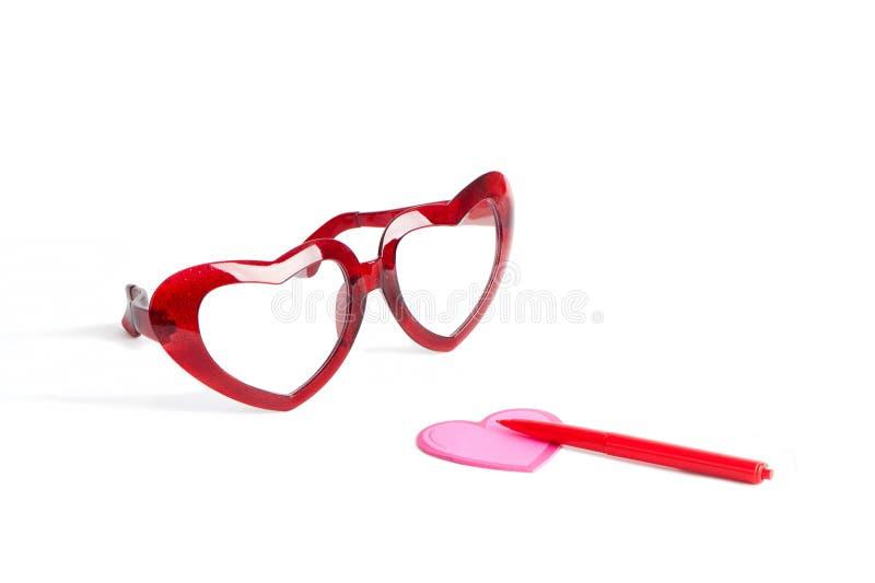 Glaces rouges pour le valentine images stock