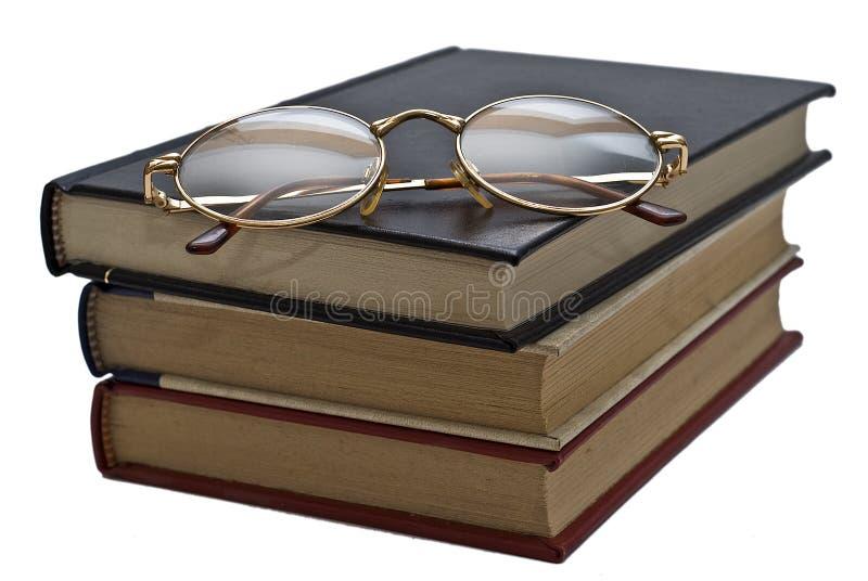 Glaces sur les livres. photo libre de droits