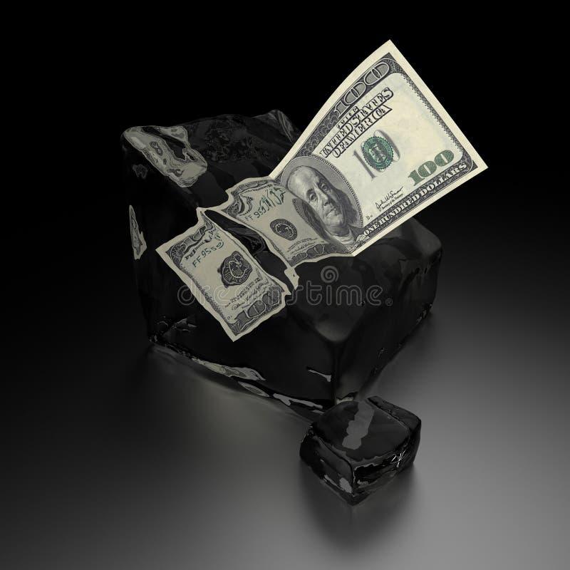 Glacez les dollars illustration stock