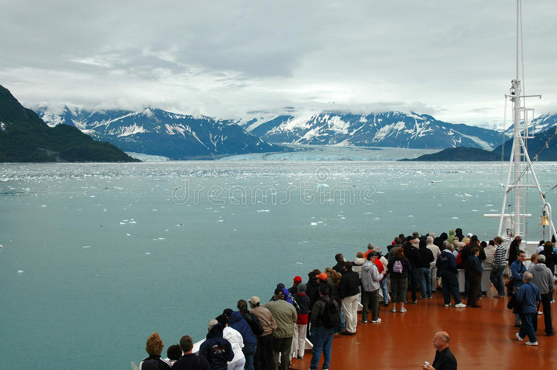 Glaciär av fartyget fotografering för bildbyråer