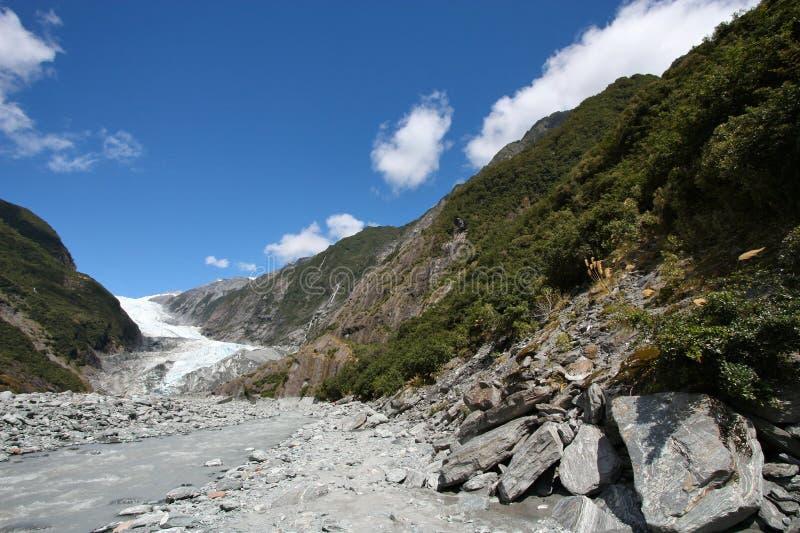 Glaciär i Nya Zeeland arkivbilder