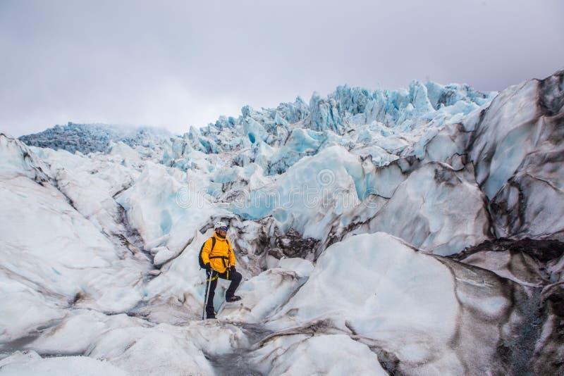 Glaciär i Skaftafell, Island arkivbilder