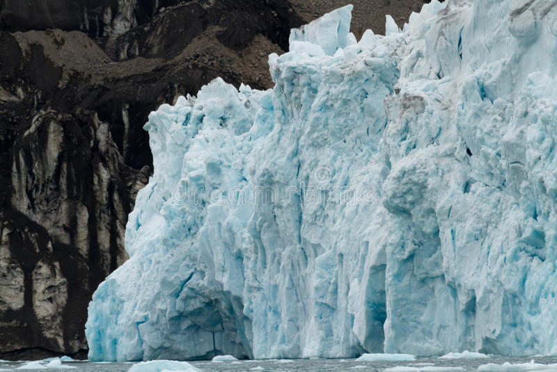 Glaciär i svalbarden arkivfoto