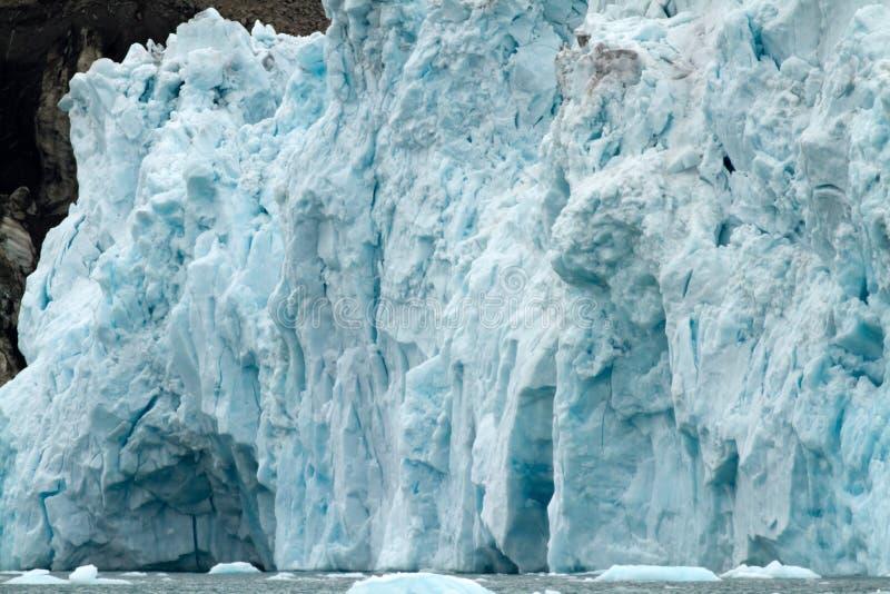 Glaciär i svalbarden royaltyfria foton