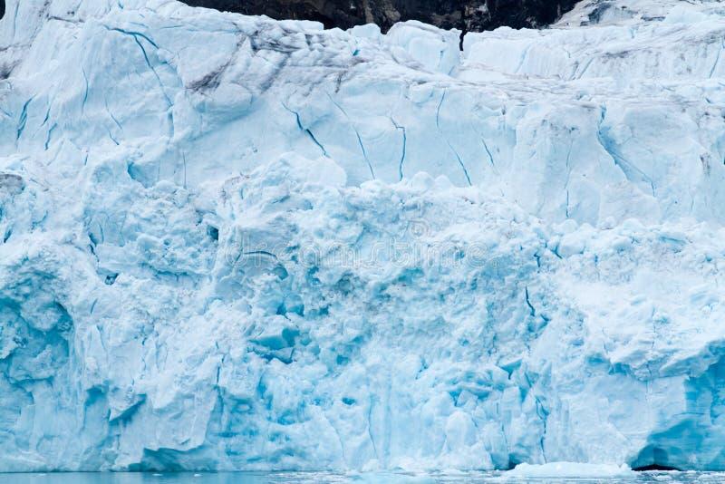 Glaciär i svalbarden arkivbild
