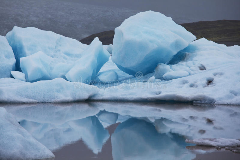 glaciär iceland royaltyfria bilder