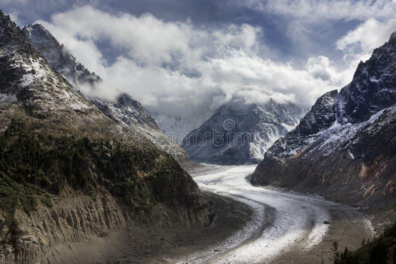 Glaciär Montenvers, Chamonix, Frankrike royaltyfria bilder