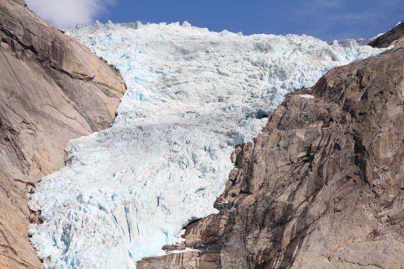 glaciär norway royaltyfria foton