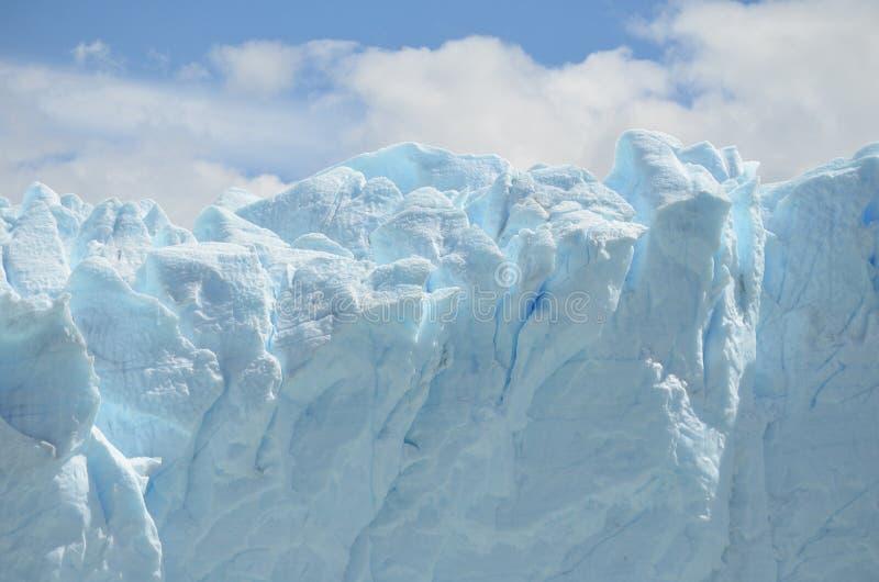 GLACIÄR OCH GLOBAL UPPVÄRMNING PERITO MORENO I PATAGONIA ARGENTINA FÖR EL CALAFATE arkivfoton