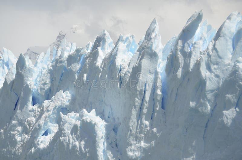 GLACIÄR OCH GLOBAL UPPVÄRMNING PERITO MORENO I PATAGONIA ARGENTINA FÖR EL CALAFATE arkivbild