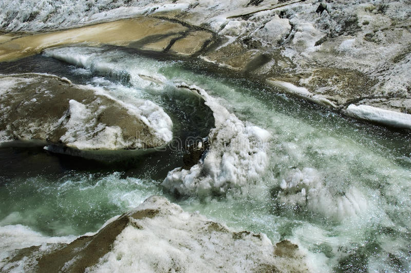 is- glaciärbergströmmar arkivbilder