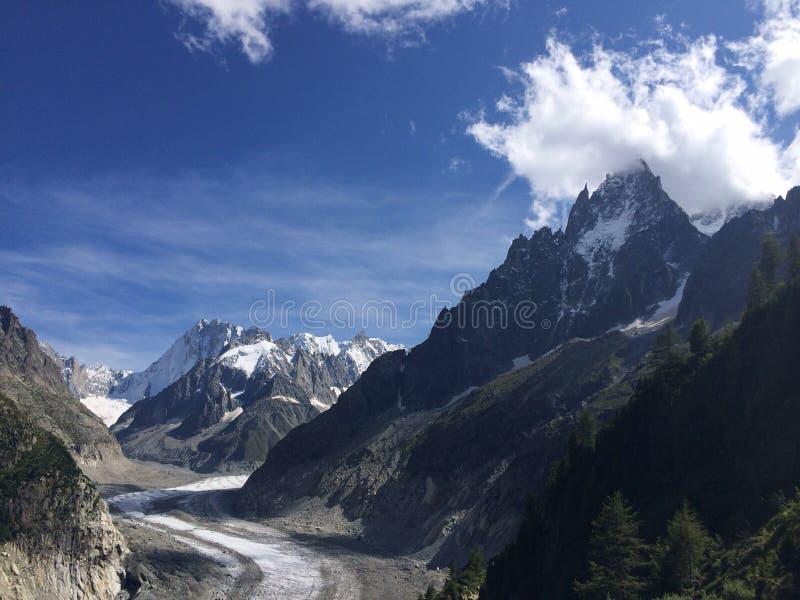 Glaciärblanc royaltyfri fotografi