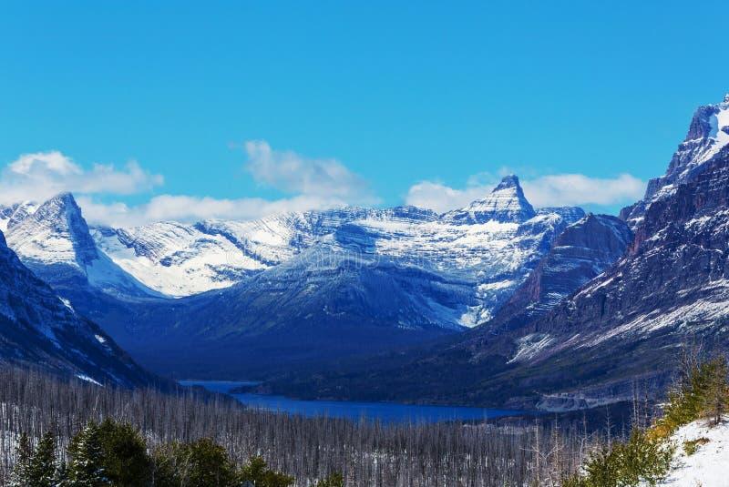 Glaciären parkerar royaltyfri bild