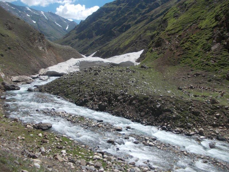 Glaciärer smälter royaltyfria bilder
