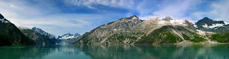 Glaciärfjärd Alaska arkivbild