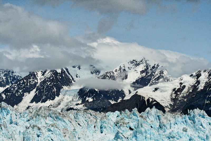 Glaciärfjärd Alaska royaltyfri foto