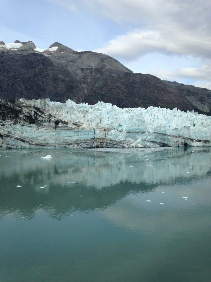 Glaciärfjärd Alaska royaltyfria foton