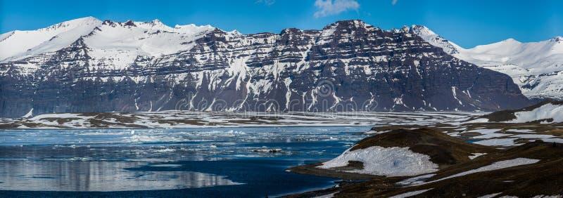 Glaciärlandskap i arktisk royaltyfria foton