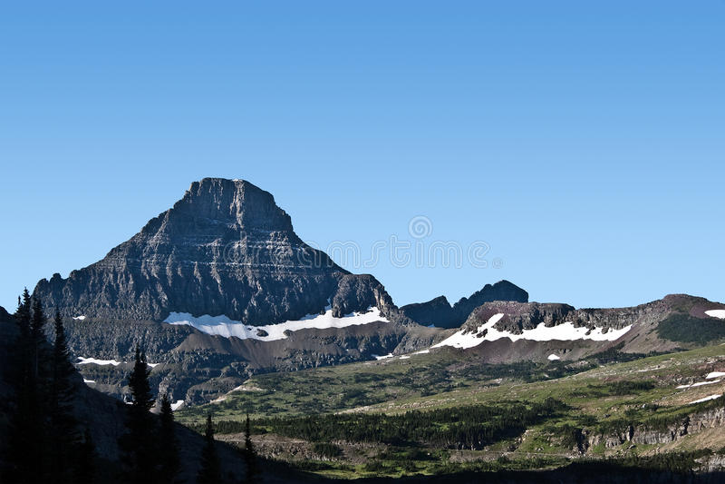 glaciärmontana nationalpark fotografering för bildbyråer