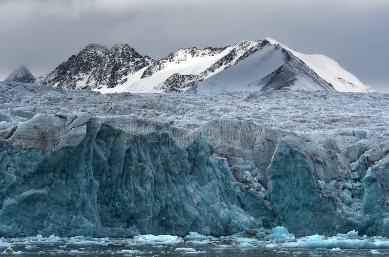 Glaci?rer av Svalbard/Spitsbergen fotografering för bildbyråer