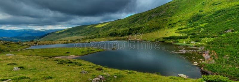 Glacial Lake Panorama stock image