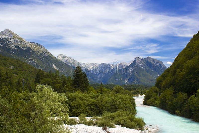 Glacial valley royalty free stock photo