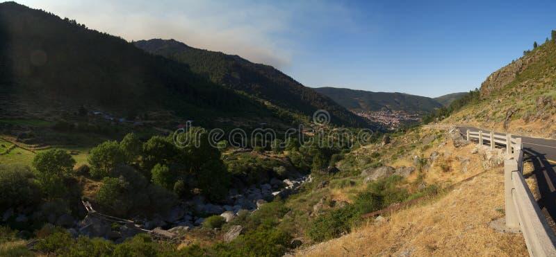 Glacial valley of Manteigas at Serra da Estrela, Portugal royalty free stock photo