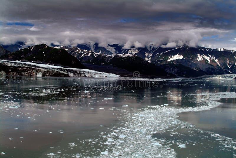 Glaciar Alaska de Hubbard fotografía de archivo libre de regalías