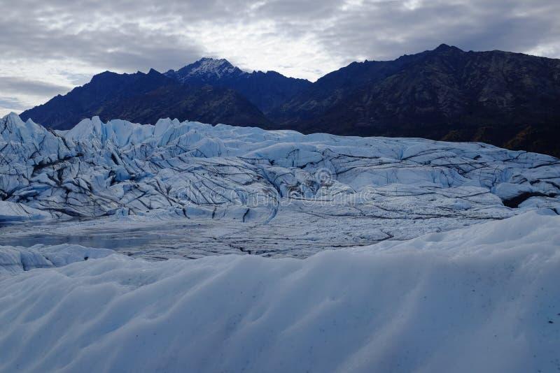 Glaciar Alaska de Matanuska imagen de archivo libre de regalías