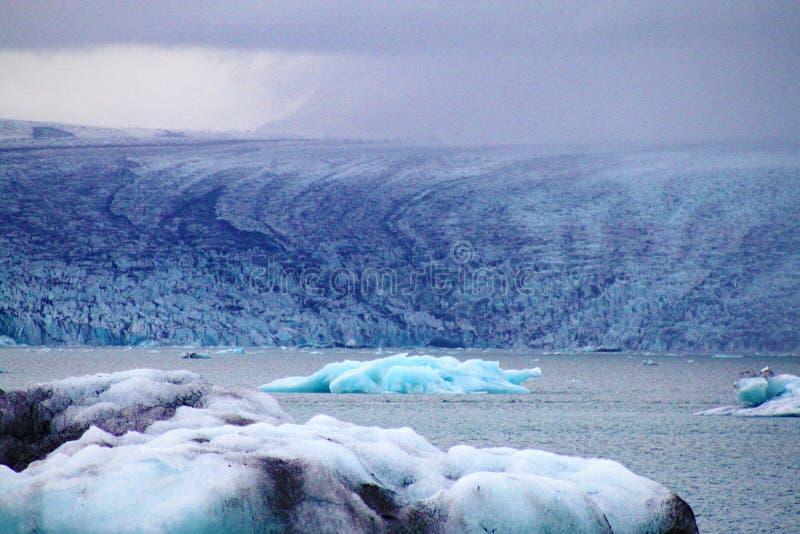 Glaciar azul foto de archivo