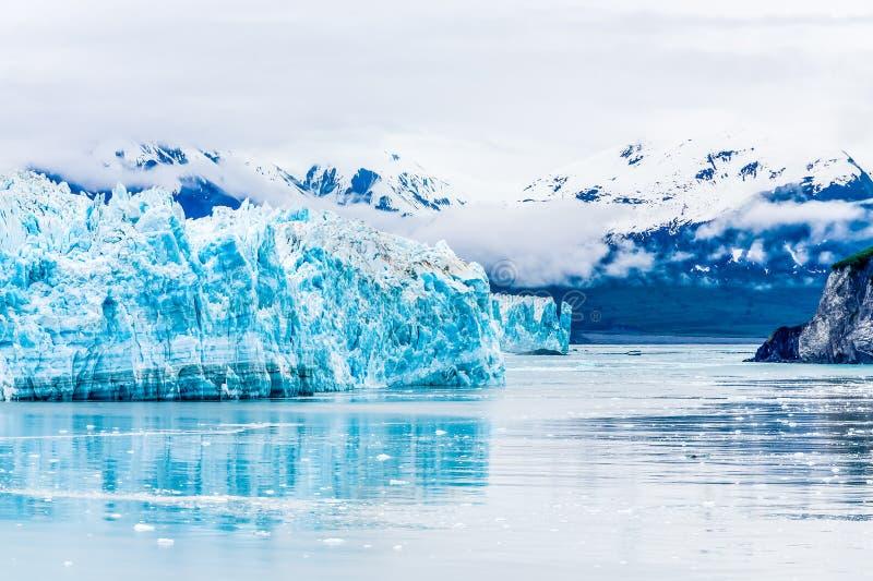 Glaciar azul de Hubbard imagen de archivo