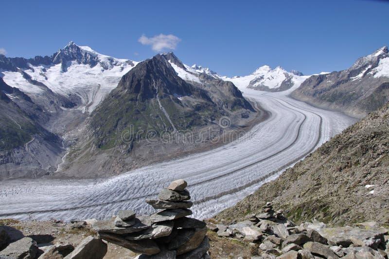 Glaciar de Aletsch imagenes de archivo