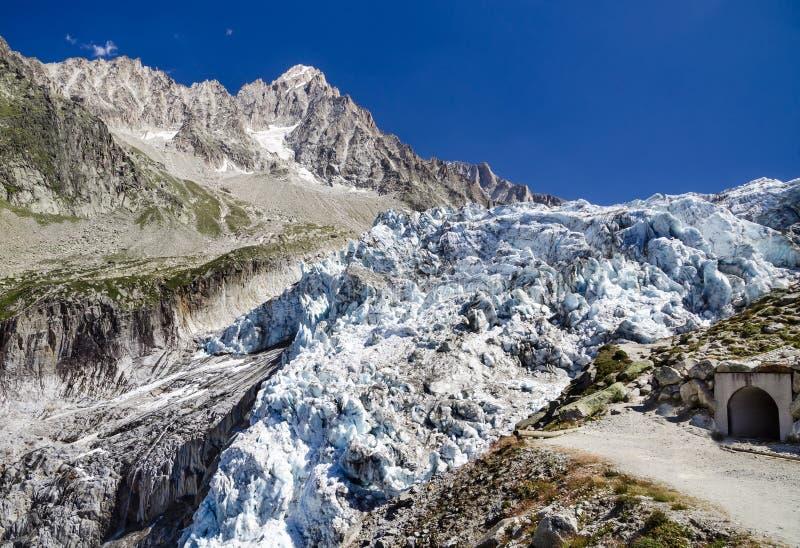 Glaciar de Argentiere en Mont Blanc, Francia fotografía de archivo libre de regalías